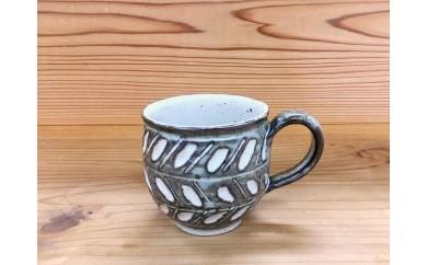 L017 恵水窯  しのぎマグカップ2柄【25pt】