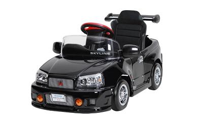 860 子育て応援企画!日本製「スカイラインGT-R R34」バッテリーカー【対象年齢 2歳-5歳】