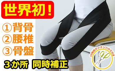 【49013】世界カイロプラクティック連盟推奨!腰痛改善ベルト■えんじ