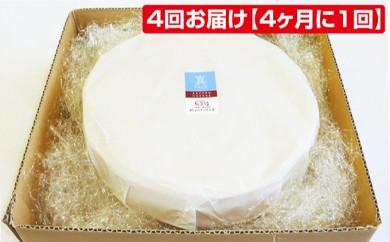 [№5642-0199]あしょろチーズ工房「ラクレット「真」1ホール」を4回お届け【4ヶ月に1回】
