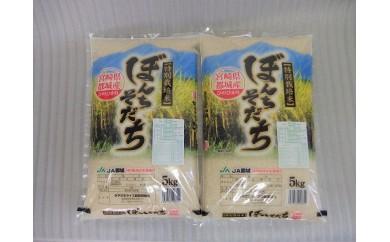 T80(10)-3801_特別栽培米 都城産ひのひかり10kgセットの定期便(10ヶ月)