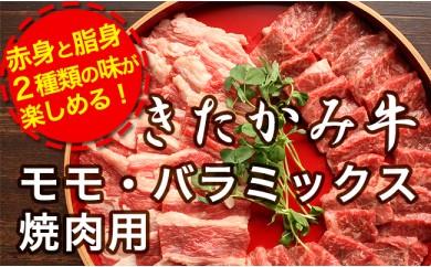 特選!希少牛肉 きたかみ牛 モモ・カタ・バラ・ミックス焼肉用 750g