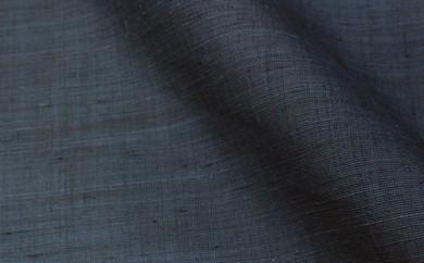 [№5802-0306]本場結城紬 着尺 無地(地機) 紺×黒