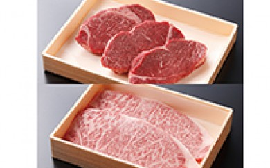 【E-1★】東通牛ヒレ・ロースステーキセット<ヒレステーキ(400g×1箱)、ロースステーキ(600g×1箱)>
