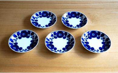 TA15 【BLOOM】ブルーム プレート(SS)リース 5枚セット 【白山陶器】