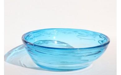 AZ07 沖縄県認定工芸士制作  琉球ガラス  GlassStudio尋  泡鉢  アサギ 【20000pt】
