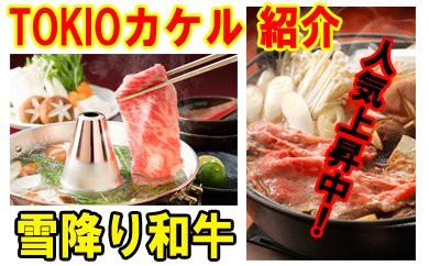 1004-冷凍.雪降り和牛定期便(すき焼き・しゃぶしゃぶコース)