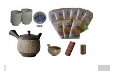 【品切中】165-048 静岡が誇る【最高級深蒸し煎茶】とお茶屋の女将が選ぶ【本格茶道具】
