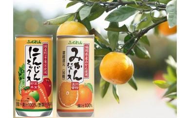 A565 飲んで健康!みかんジュース&にんじんジュース各20缶 計40缶セット