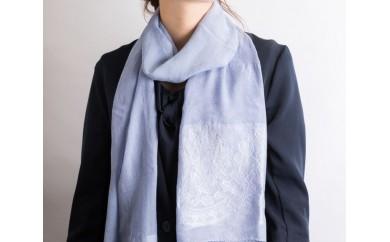 HMG188 【天然の優しい色】安代りんどう染め~ミニシルクストール~