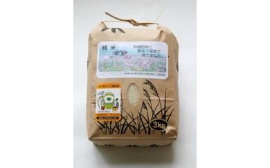 【受付期間外】F001 有機肥料と農薬不使用で育てた帆足さん家のヒノヒカリ(5kg)【15000pt】