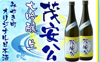 B163-A みやき町オリジナル日本酒 大吟醸「茂安公」生 2本セット【数量限定】