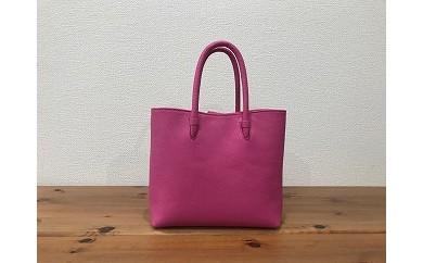 No.234 軽い!牛革姫路レザー・中型ハンドバッグ(ピンク色)