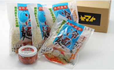 B0095 焼肉冷麺ヤマト 盛岡冷麺・手造り特選キムチセット