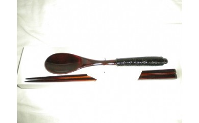 箸・スプーンセット(黒)[B0025]