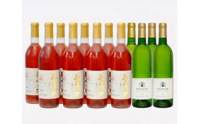 No.134 千歳ワイナリーワインセットT / ハスカップワイン 甘口 フルーツワイン 辛口 白ワイン 北海道 人気