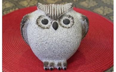 限96.『石の彫刻』フクロウ-1(御影石製)