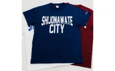 """A-20.""""SHIJONAWATE CITY""""Tシャツ<紺or白or赤>"""