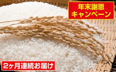 [№5792-0145]【2ヶ月連続お届け】郷の有機使用特別栽培米 ひとめぼれ 12kg