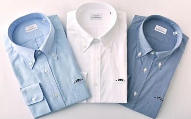 くまモン 紳士用 紺チェック3枚セット HITOYOSHIシャツ
