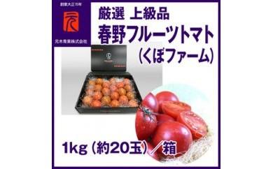 BB378 春野フルーツトマト(くぼファーム)厳選上級品/1kg(約20玉)元木青果【750pt】