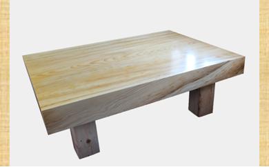 [№5723-0235]アカエゾマツ一枚天板(約10cm)座卓