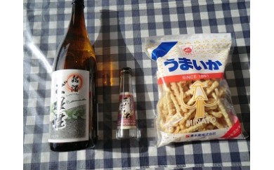 [№5751-0230]日本酒+焼酎+うまいかセット
