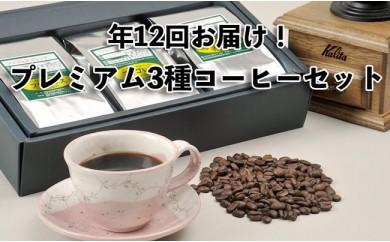 【年12回毎月お届け!】フリゴレスお任せ プレミアム3種コーヒーセット