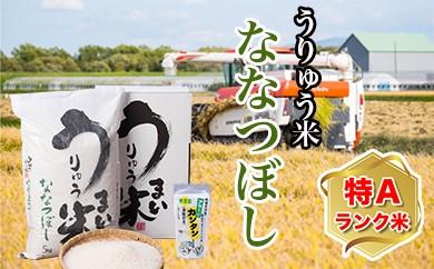 [A-03] うりゅう米ななつぼし(5kg)1袋 アラー!!カンタン 2個 H29年度