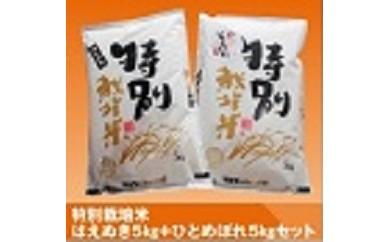 086 小野寺農園の特別栽培米セット(はえぬき5kg+ひとめぼれ5kg)