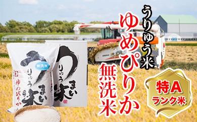 [T-02] うりゅう米ゆめぴりか無洗米5kg 定期便!年6回お届け