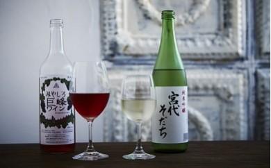 みやしろ飲みくらべセット(ワイン・日本酒)