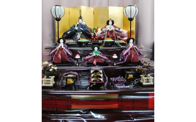 X-45 大島紬三段飾り75-②