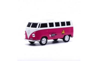 フォルクスワーゲンT1バスロディモデルBluetoothスピーカー(ピンク)