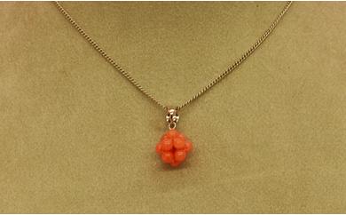 [051227]深海の秘宝:珊瑚ペンダントC