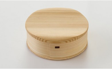 50P6002 【大館曲げわっぱ】白木箱~新波~【50P】