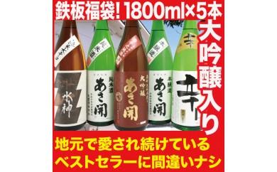 大吟醸入り!鉄板ベストセラー 日本酒福袋 1800ml×5本セット