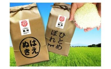 A29-950 平成29年産米鶴岡産特別栽培米はえぬき・ひとめぼれ(各2kg)