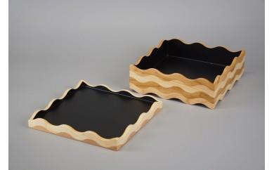 50010 tonono oju- L 黒 蓋付きと 箸置き2個のセット