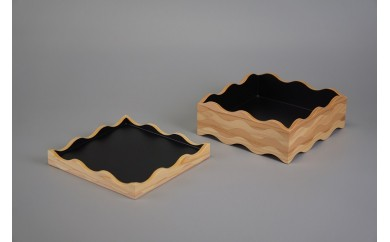 50012 tonono oju- M 黒 蓋付きと 箸置き(5個セット)