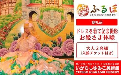 BY10 【体験】いがらしゆみこ美術館で憧れのお姫さまドレスを着て撮影をする「お姫さま体験(入館チケット付き)」※大人2名様