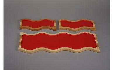 50013 tononoフードプレート konami S朱2枚・L朱1枚のセット