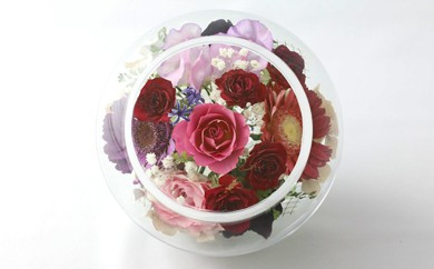 C102 ボトルフラワー✿花色々(足つきボール型)【花の美しさそのまま】