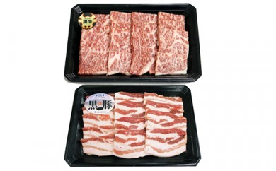 260 鹿児島黒牛黒豚焼肉セット600g