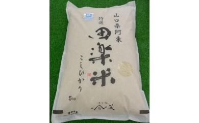 30D-047 「田楽米」コシヒカリ15kg(エコ山口50認証所得)