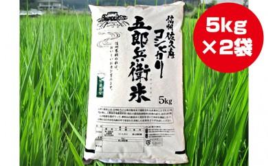 [№5865-0199]信州佐久産 コシヒカリ 五郎兵衛米 10kg
