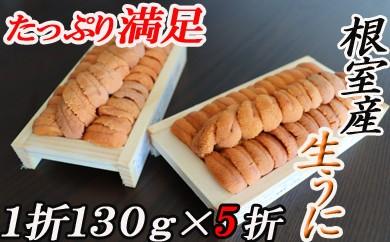 CC-16008 【北海道根室産】エゾバフンウニ(赤系)130g×5折[450737]