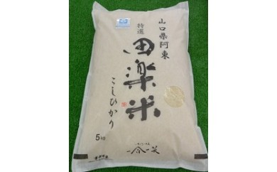 30B-013 「田楽米」コシヒカリ50kg(エコ山口50認証所得)