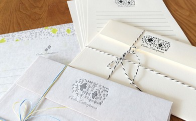 [№5849-0099]【活版印刷】レターセット2種(bird)