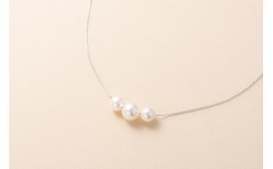 【G3】明浜産真珠ペンダント・トロア(ホワイト)